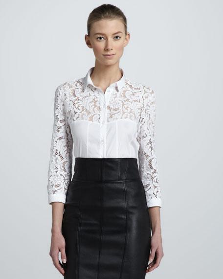 Lace Combo Shirt