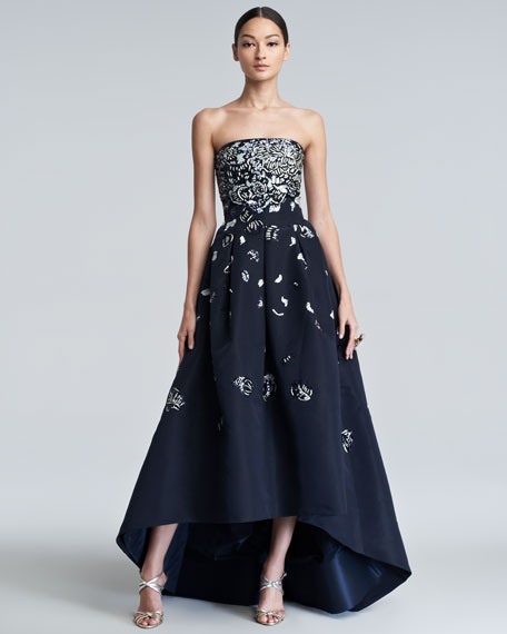 Embellished High-Low Gown