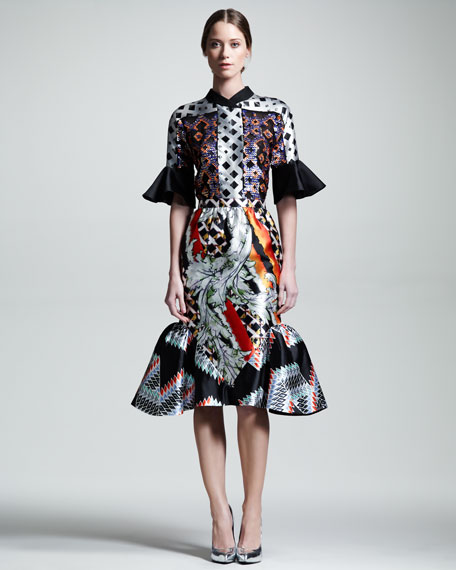 Laurena Flounce-Hem Skirt
