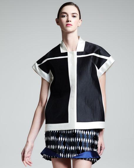 Colorblock Kimono Jacket