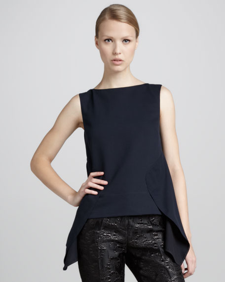 Back-Peplum Sleeveless Top