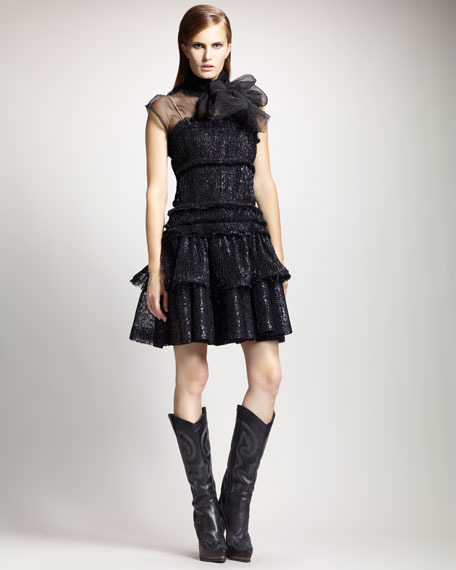 Tiered Crinoline Dress