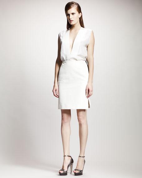 Grosgrain-Trim Skirt