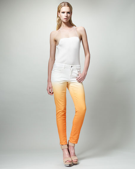 Slim Degrade Jeans, Papaya