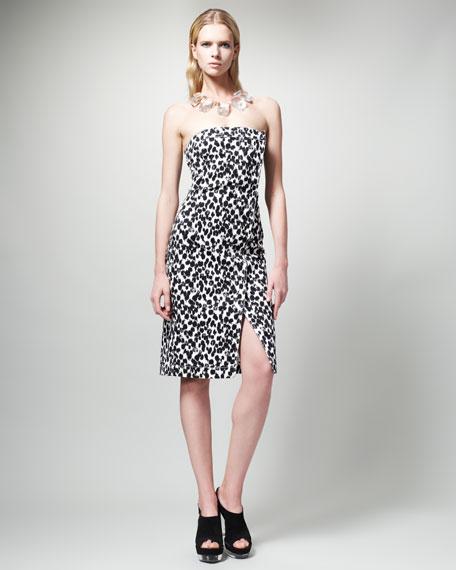 Animal-Print Strapless Dress