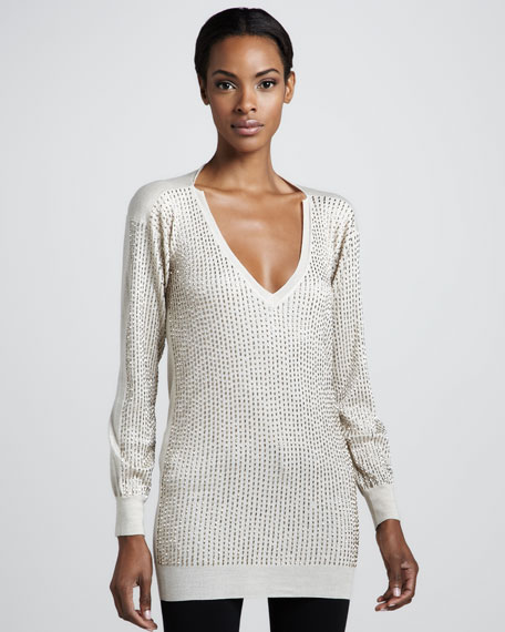 Embroidered Tunic, Taupe
