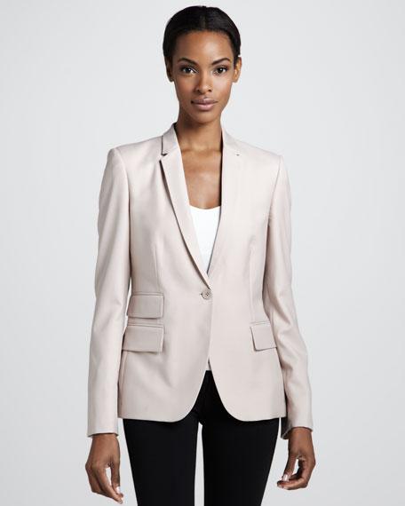Tailored Wool Jacket, Powder