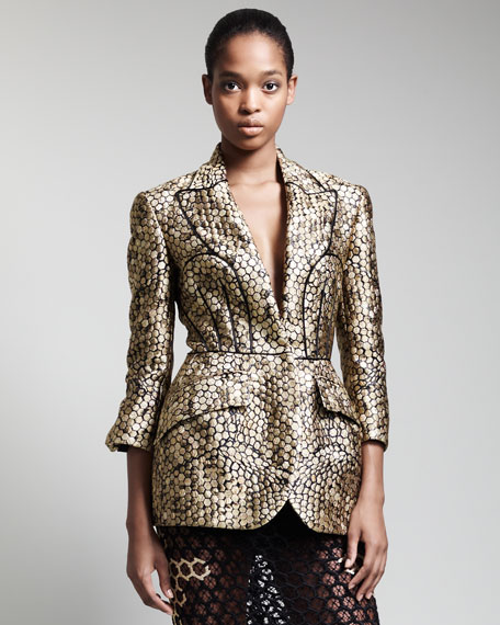 Trompe L'oeil Honeycomb Jacket