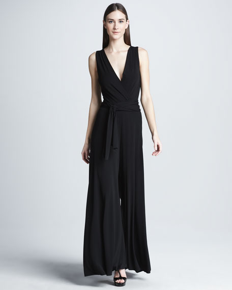 Fluid Jersey Jumpsuit, Black