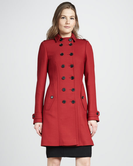 Double-Breasted Stretch-Wool Coat