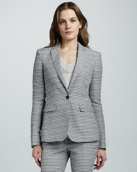Tailored Seersucker Jacket