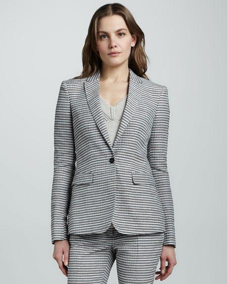 Tailored Seersucker Jacket