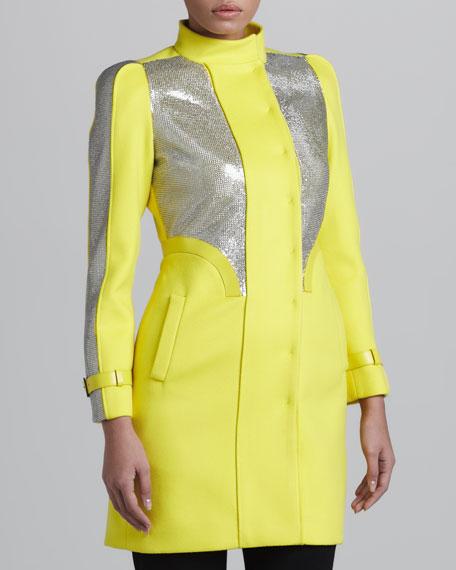 Sequin-Panel Coat