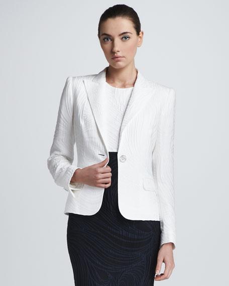 Jacquard Jacket, White