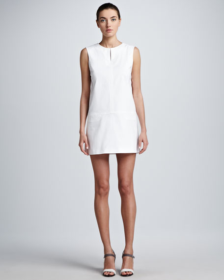Split-Neck Sleeveless Tunic/Dress