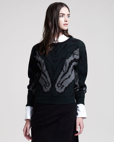 Naples Intarsia-Knit Sweater