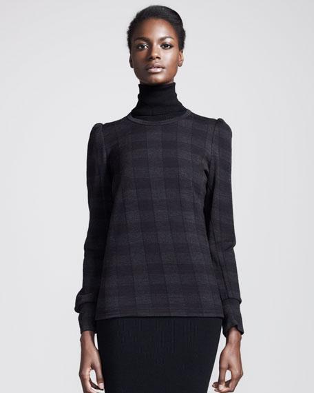 Check-Jacquard Knit Pullover