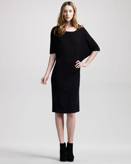 Batwing-Sleeve Jersey Dress