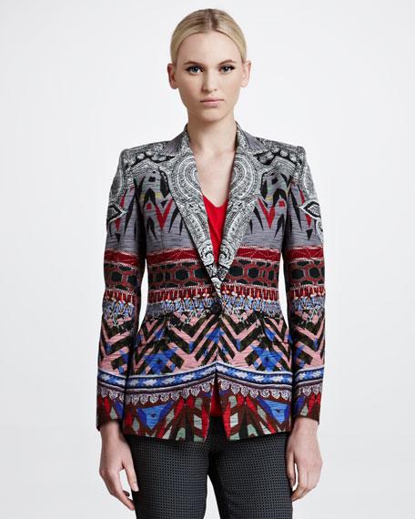 Paisley Batik Printed Faille Jacket
