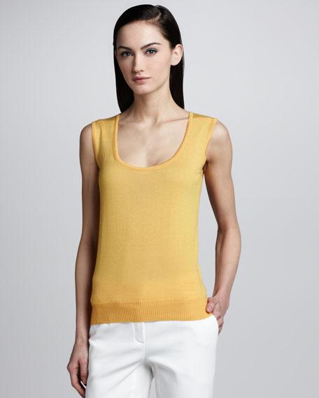 Scoop-Neck Tank, Medium Yellow