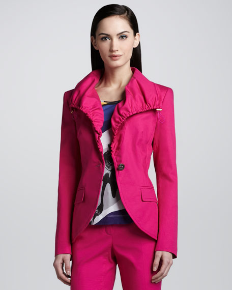 Canvas Drawstring Jacket, Open Pink