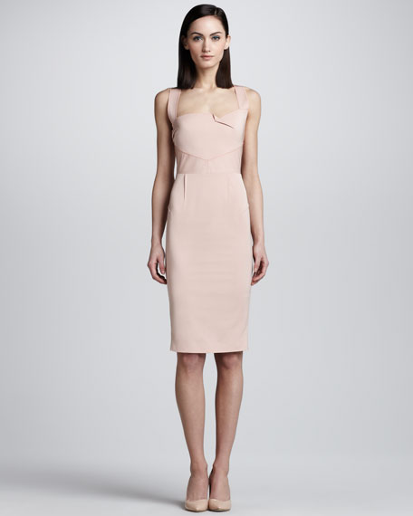 Piora Cross-Back Sheath Dress, Light Pink