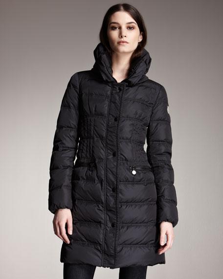 Knit-Collar Puffer Jacket