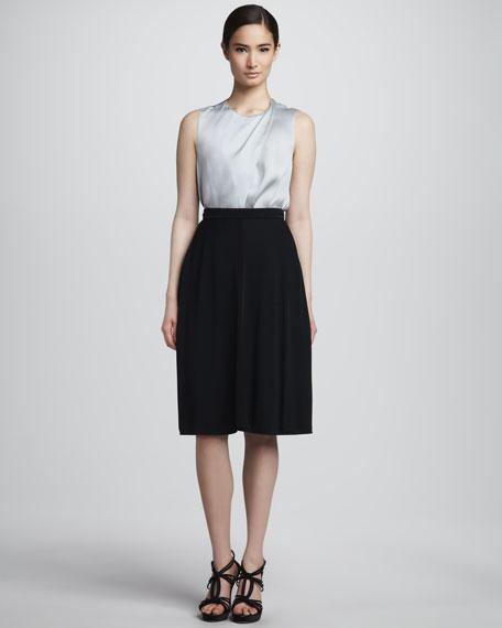 A-Line Jersey Skirt, Black