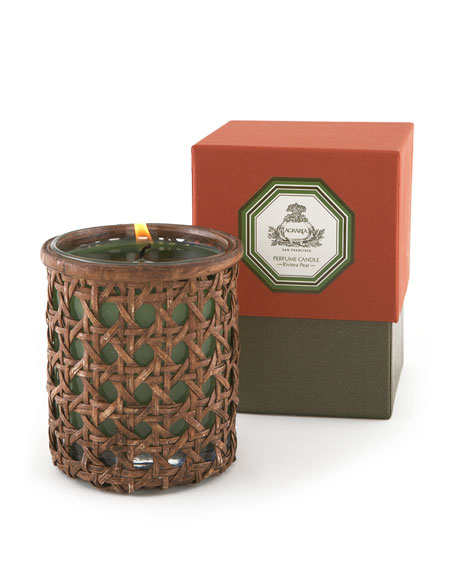 Riviera Pear Woven Cane Candle