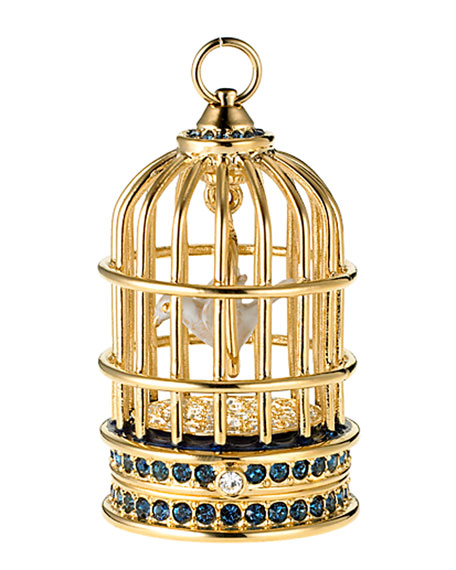 Beyond Paradise Gilded Bird Cage Perfume Compact