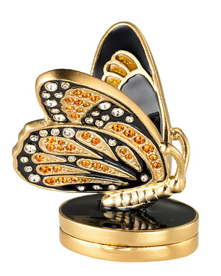 Exclusive Beautiful Bejeweled Butterfly Perfume Compact