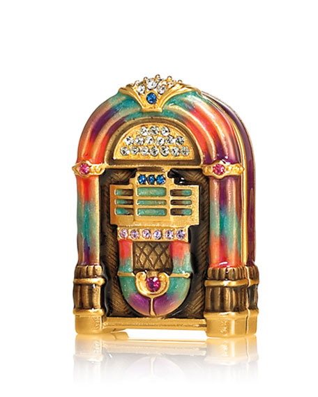Limited-Edition Pure White Linen Jukebox by Jay Strongwater
