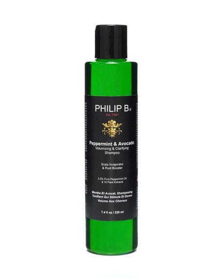Peppermint & Avocado Volumizing & Clarifying Shampoo, 7.4 oz.