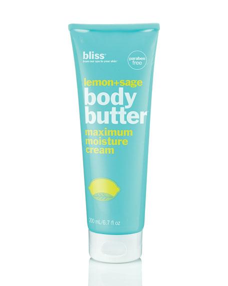Bliss lemon & sage body butter, 6.7 oz.