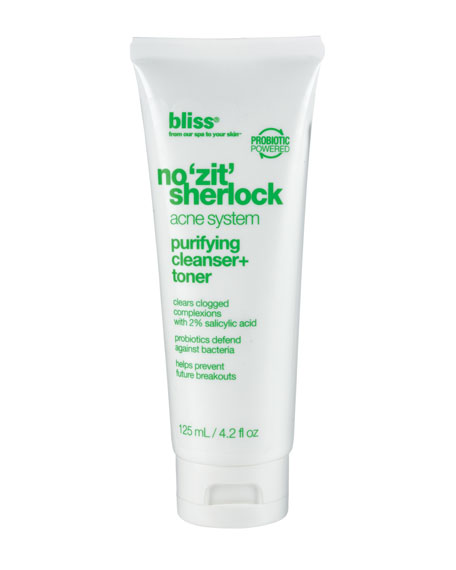 no 'zit' sherlock purifying cleanser + toner