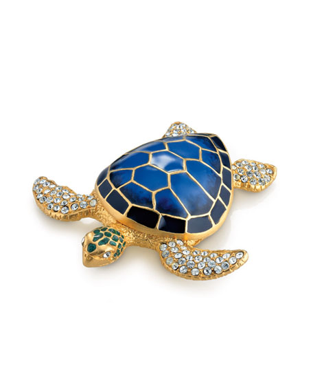 White Linen Sea Turtle Compact