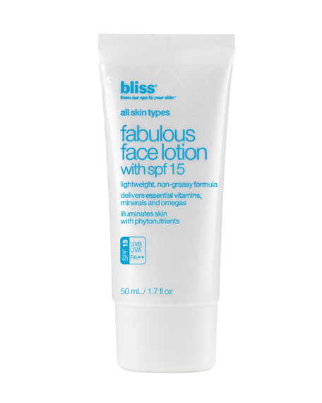 FACE LOTION WITH SPF 15