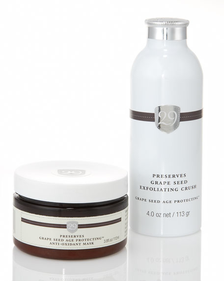 Preserves Age Protecting Anti-Oxidant Mask & Grape Seed Exfoliating Crush