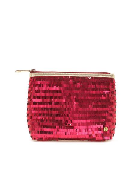 Ibiza Sparkle Clutch Bag, Berry