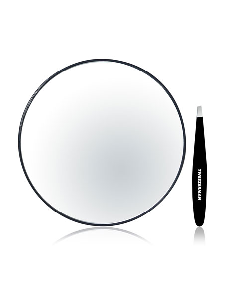Mirror with Mini Slant Tweezer
