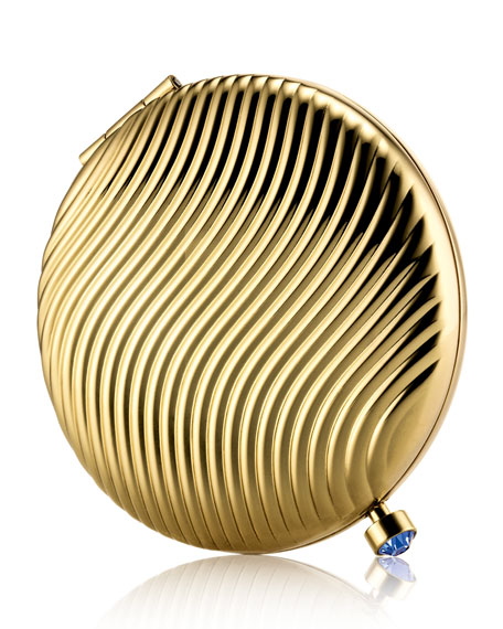 Limited Edition 24-Karat Gold-Plated Woven Heritage Lucidity Translucent Pressed Powder Compact