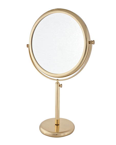Frasco Mirrors Brass Vanity Stand Double Sided Mirror 95