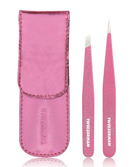Pink Glitter Tweezer Set