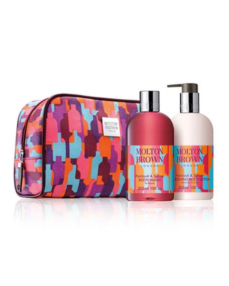 Patchouli & Saffron Stowaway Cosmetics Bag