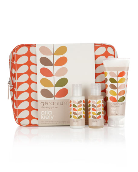 Geranium Wash Bag Set