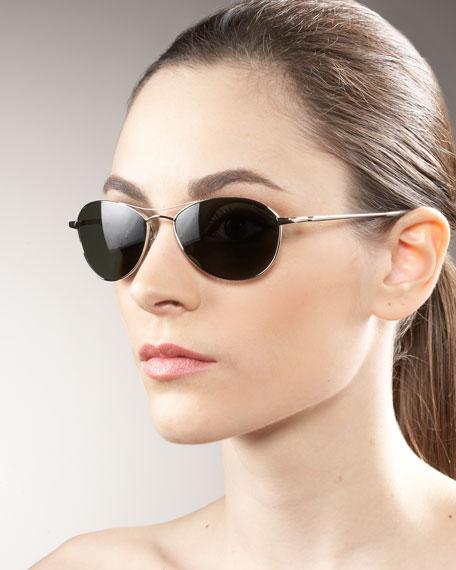 Aero Metal Sunglasses, Silver