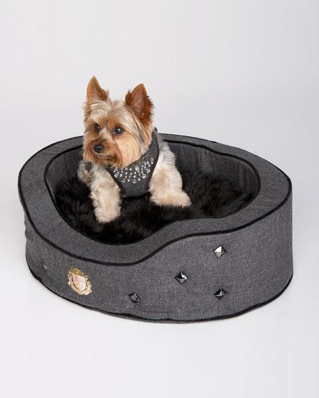 Herringbone Tufted Dog Bed