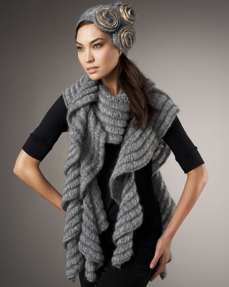 Ludgate Cascade Scarf, Gray