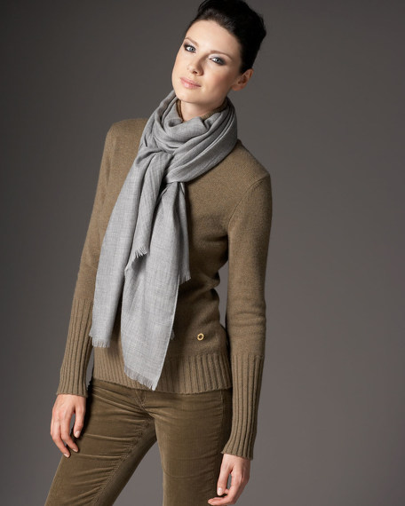 Cashmere/Silk Scarf, Gray