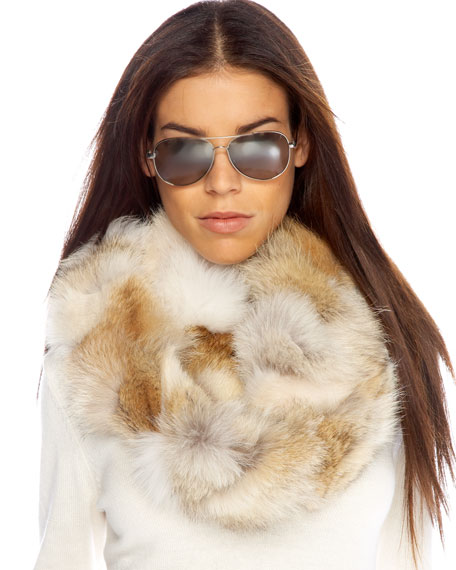 Infinity Fur Cowl Scarf